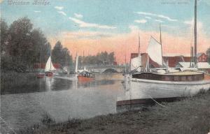 England Wroxham Bridge, Boats, Jarrolds' Series 1907