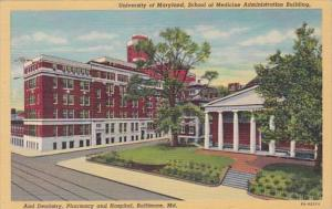 Maryland Baltimore School Of Medicine Administration Building and Dentistry P...