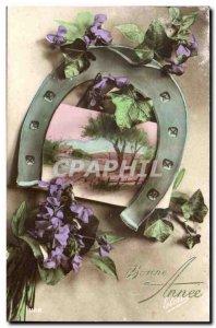 Old Postcard Fancy Happy Valentine Horseshoe