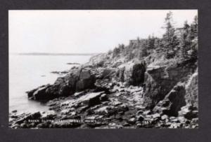MAINE ME Cliffs SEAL HARBOR Real Photo RPPC Postcard PC