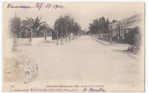 Tunisia; Hammam-Liff, Casino Avenue PPC 1906 PMK To M Doulcet, Paris