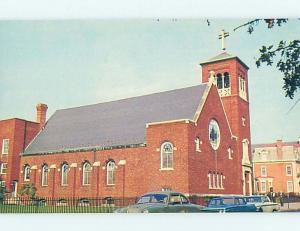 Unused Pre-1980 OLD CARS & CHURCH SCENE Dover Delaware DE p3798@