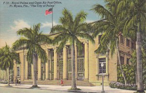 Florida Fort Myers Royal Palms and Open Air Post Office Curteich