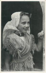 Zeeland province of the Netherlands folk costume photo postcard
