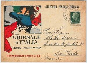 41314   CARTOLINA d'Epoca - ROMA: PUBBLICITARIA Il Giornale   - BERSAGLIERI 1935
