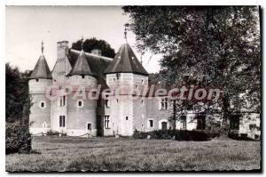 Postcard Old Castle Auberville La Manuel