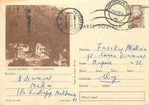 Romania postal stationery postcard Baile Sacelu