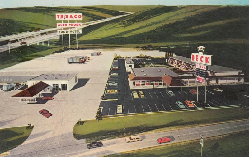 GENESEO , Illinois , 40-60s; Deck Plaza Truck Stop ; TEXACO Gas Station