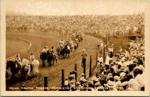 Vtg Carte Postale Cppr Pendleton Oregon ~1910s Indigènes Américain Parade Unp