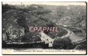 Old Postcard Picturesque Creuse Crozant Vue Generale and edges of Creuse