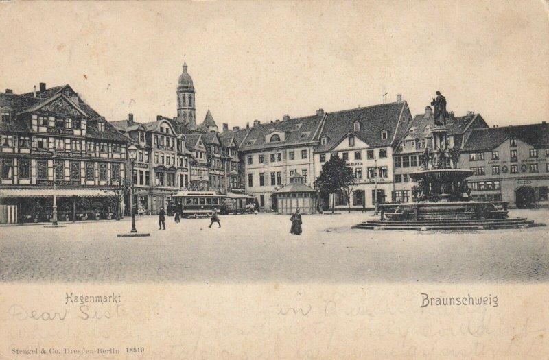 BRAUNSCHWEIG , Germany , 1905 ; Hagenmarkt