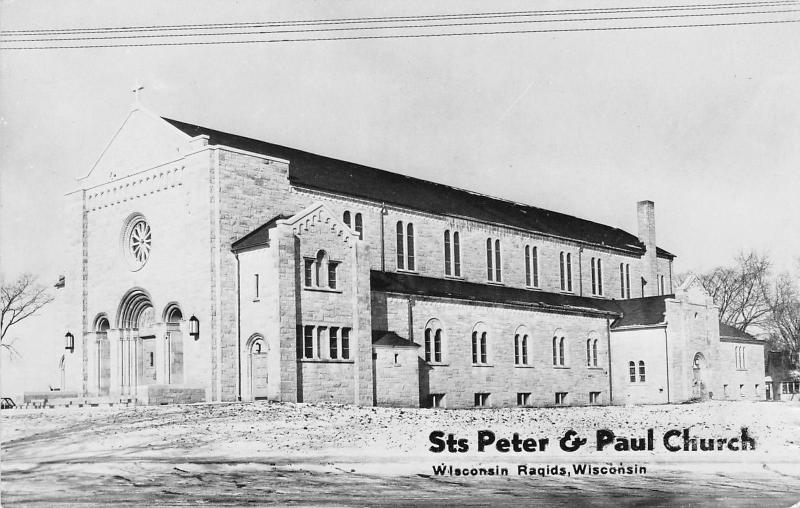 Wisconsin Rapids~New Saints Peter & Paul Church~RPPC Dedicated 1951 Schlaefer PC