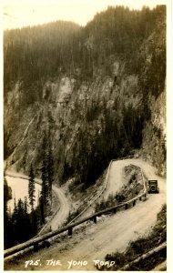 Canada - British Columbia.  The Yoho Road.   *RPPC