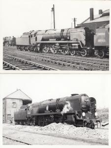 Weymouth Train 2x Vintage Photo Plain Back Postcard s