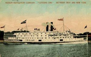Hudson Navigation Co. (Citizens Line) - SS Trojan    (crease)