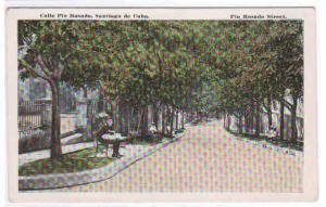 Calle Pio Rosado Santiago de Cuba 1920c postcard