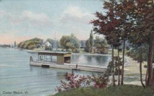 Vermont Cedar Beach Showing Boat Dock 1915
