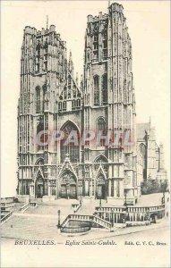 Old Postcard Bruxelles Eglise Sainte Gudule