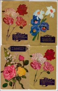 3 - Misc Greeting Cards with Flowers