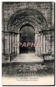 Airvault Old Postcard Portal Our Lady of Couldre