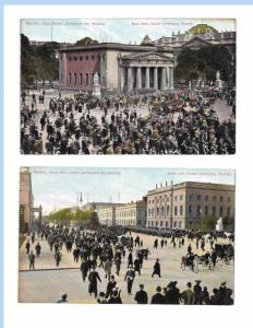 Berlin Germany Changing the Guard Unter den Linden New Guardhouse 2 Postcards