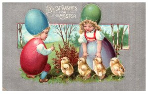 Easter  Children Wearing Egg Shells