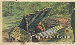 Shelter of Earthquake Victim  Postcard Post Cards Old Vintage Antique Postcar...