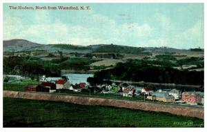 19104  NY Waterford   Aerial View of Hudson and Village