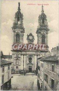 Postcard Old Church St Jacques Luneville