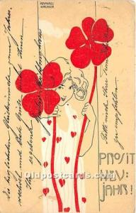 Artist Raphael Kirchner 1899 some corner wear, light postal marking on front,...