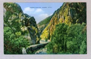 Ogden Canyon, Ogden, Utah unused Kropp linen Postcard