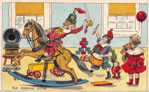Christmas~The Morning After~Rocking Horse Sword Fight~Edison Phonograph~1910