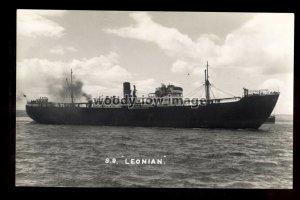 bf1362 - United Africa Cargo Ship - Leonian , built 1936 - B Feilden card
