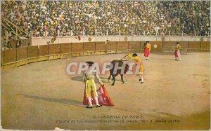 Old Postcard Corrida de Toros de las banderillas Puesta