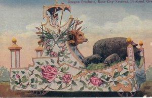 PORTLAND , Oregon , 00-10s ; Orergon Products Float , Rose City Festival