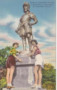 Florida St Augustine Statue Of Juan Ponce de Leon In Fountain Of Youth Park