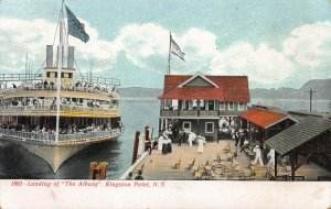 Landing of The Albany, Kingston Point, New York, Early Postcard, Unused