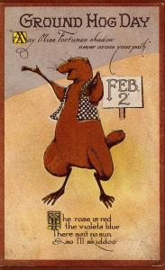 Greeting - Ground Hog Day (Repro)