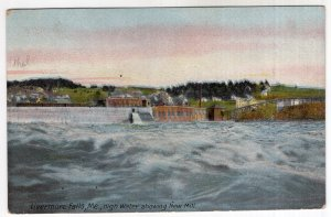 Livermore Falls, Me, High Water showing New Mill