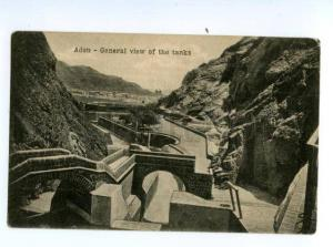 132990 ADEN general view of tanks Vintage postcard