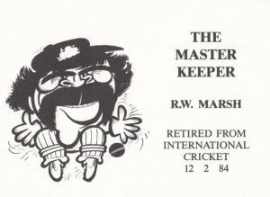 Rodney Marsh English International Keeper Limited Edition 750 Cricket Postcard