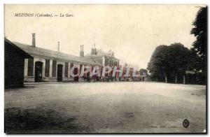 Old Postcard Mezidon La Gare