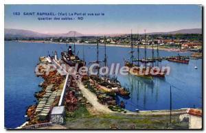 Postcard Old Port Saint Raphael overlooking the neighborhood of the sands