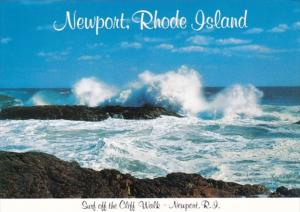 Rhode Island Newport Surf Off The Cliff Walk