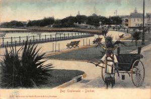 South Africa Durban Bay Esplanade ricksaw postcard