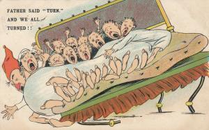 COMIC; 1900-10s; Family falling out of bed