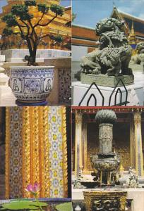 Thailand Courtyard Of Temple Of Emerald Buddha Multi View