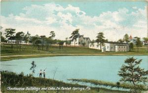 De Funiak Springs FL~Chautauqua Buildings by Lake~Men Fishing~Aymard~1905