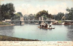 25610 MA, Boston, 1905, Public Garden, boat in water