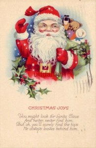 CHRISTMAS JOYS Waving Santa 1976 You might look for Santa Claus Series 1256 C
